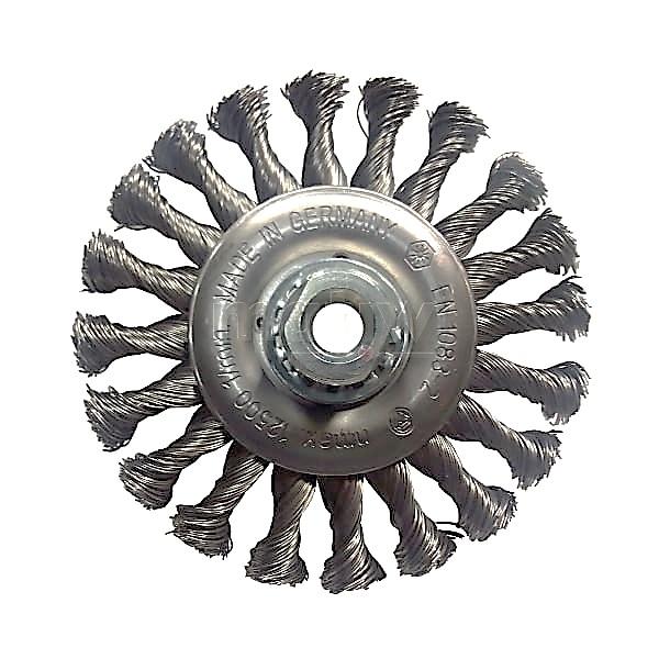 Szczotka tarczowa OSBORN Ø 125 x 12 M14 drut nierdzewny splatany 0,50
