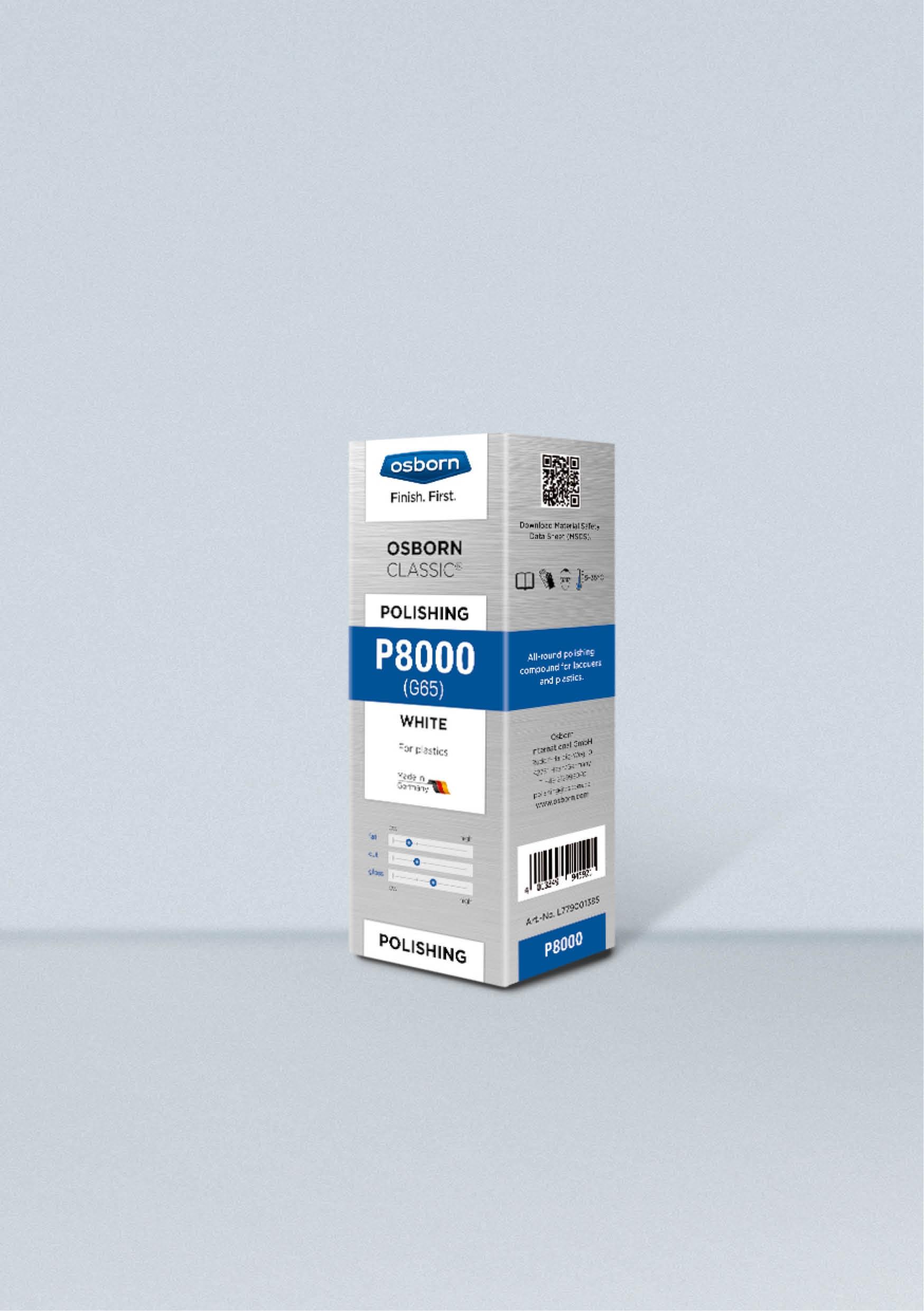 Pasta stała P8000 OSBORN biała lub czarna 1kg nr.L779001385