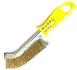 Szczotka ręczna plastikowa OSBORN 1 rzędowa drut mosiężny 0,30 - żółta