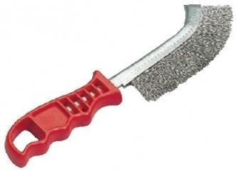 Szczotka ręczna plastikowa OSBORN 1 rzędowa drut stalowy 0,30 - czerwona