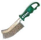 Szczotka ręczna plastikowa OSBORN 1 rzędowa drut nierdzewny 0,30 - zielona