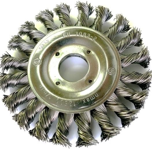 Szczotka tarczowa OSBORN Ø 125 x 12 otwór 22,2 drut nierdzewny splatany 0,50