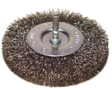 Szczotka trzpieniowa tarczowa OSBORN Ø 75x10 drut stalowy falisty 0,30