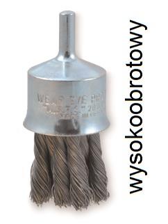 Szczotka trzpieniowa pędzelkowa OSBORN Ø 23 drut stalowy splatany 0,35 - wysokoobrotowy