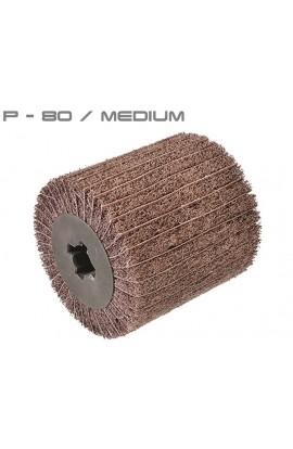 Walec z włókniny ściernej i płótna ściernego P80 medium Ø100x100 otwór 19,6 OSBORN nr. 0083410100