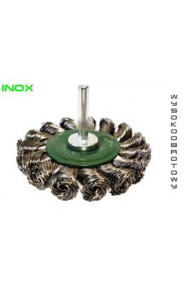 Szczotka tarczowa trzpieniowa OSBORN Ø 75x12 wysokoobrotowa drut nierdzewny splatany 0.50 - nr.1308611351