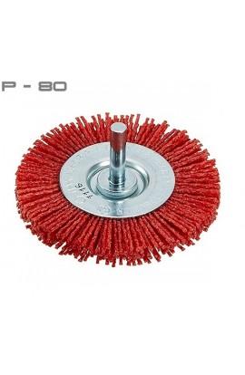 Szczotka tarczowa trzpieniowa OSBORN Ø 75 tworzywo Gritiflex P-80 czerwony nr.0802600491