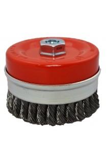 Szczotka druciana doczołowa Ø 120 z M14 drut stalowy splatany 0,50 nr.0088608155 OSBORN do czyszczenia rdzy, farby, nalotów, gratowania, spawów