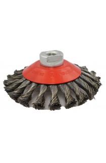 Szczotka stożkowa Ø 125x15 z M14 drut stalowy splatany 0,50 - nr.3908632151 OSBORN do czyszczeni rdzy farby, nalotów