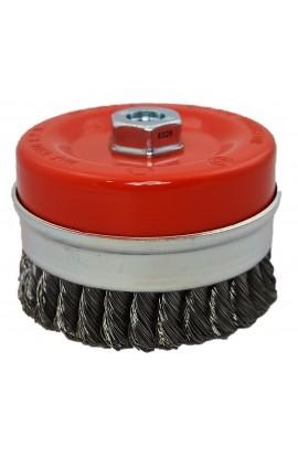 Szczotka druciana doczołowa Ø 100 z nakrętką M14 drut stalowy splatany 0,50 - nr.0088608154 OSBORN do czyszczenia rdzy, farby, nalotów, gratowania, spawów
