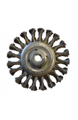Szczotka druciana tarczowa Ø 125x13 z nakrętką M14 ,drut stalowy splatany 0,50 - nr. 0232631151 OSBORN do czyszczenia rdzy, farby. nalotów, gratowania, spawów