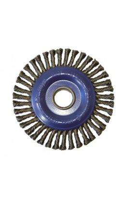 Szczotka druciana tarczowa do rur Ø 125x6 otwór 22,2 , drut stalowy splatany 0,50 - nr. 0002626251 OSBORN do czyszczenia spawów, rdzy, farby, nalotów