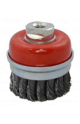 Szczotka druciana doczołowa Ø 75 z nakrętką  M14 drut stalowy splatany 0,50  nr.0088608152 OSBORN do czyszczenia rdzy. farby, nalotów, gratowania, spawów