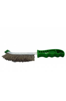 Szczotka druciana ręczna zielona 1- rzędowa drut nierdzewny nr. 0008462391 OSBORN do czyszczenia rdzy, farby. nalotów