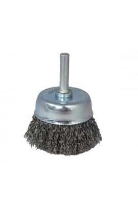 Szczotka druciana doczołowa Ø 50 trzpień 6mm drut stalowy falisty 0.30 - nr.0008600821 OSBORN do czyszczenia rdzy, nalotów, farby, gratowania, spawów