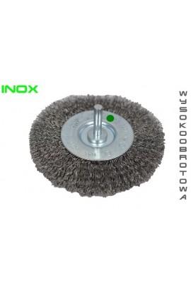 Szczotka druciana tarczowa trzpień Ø 50x10 wysokoobrotowa drut nierdzewny falisty 0.30 nr.1308504361 OSBORN do czyszczenia rdzy, farby, nalotów, gratowania, spawów