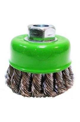 Szczotka druciana doczołowa Ø 65 z nakrętką M14 drut nierdzewny splatany 0,50 nr.3008608351 OSBORN do czyszczenia rdzy, farby, nalotów, gratowania, spawów