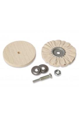 Zestaw 2 tarcz polerskich do mosiądzu/plastiku/lakieru na trzpieniu Ø 6mm OSBORN nr. 7912600000