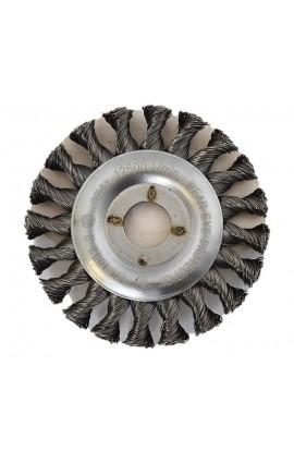 Szczotka druciana tarczowa Ø 125x13 otwór 22,2 ,drut stalowy splatany 0,50 - nr. 2118631151 OSBORN do czyszczenia rdzy, farby, nalotów, gratowania, spawów