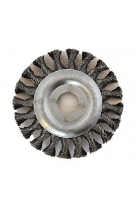 Szczotka druciana tarczowa Ø 115x12 otwór 22,2 ,drut stalowy splatany 0,50  nr.2108631151 OSBORN do czyszczenia rdzy, farby, nalotów, gratowania, spawów