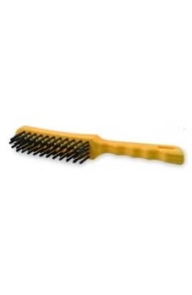 Szczotka druciana ręczna plastikowa 3 - rzędowa drut nierdzewny nr. 0008451333 OSBORN do czyszczenia farby, rdzy, nalotów
