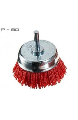 Szczotka doczołowa trzpieniowa OSBORN Ø 75 tworzywo Gritiflex P-80 czerwony nr.0802600991