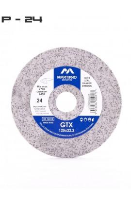 Ściernica płaska GTX MARTINNO  Ø 125x8x22,2 gr. 24/extra coarse nr. GTX125822,224