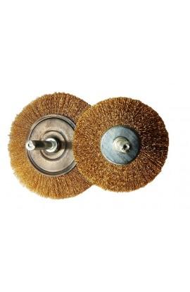 Szczotka druciana tarczowa trzpieniowa  Ø 60x7 drut mosiężny 0.15mm - nr.MO00600860 OSBORN do czyszczenia rdzy, farby, nalotów, gratowania, spawów