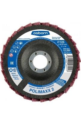 Tarcza lamelkowa POLIMAXX 2 OSBORN  Ø 125x22,2 włóknina Medium - nr.5542206100