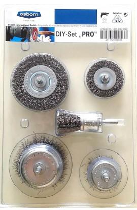 Zestaw szczotek trzpieniowych OSBORN 5 sztuk, drut stalowy falisty 0,30 - nr.1418600005