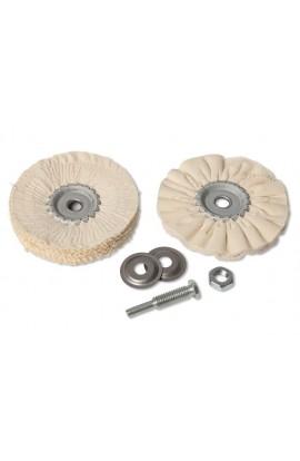 Zestaw 2 tarcz polerskich do stali szlachetnej/stali/aluminium na trzpieniu Ø 6mm OSBORN nr. 7922600000
