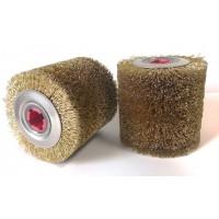 Szczotka walcowa Ø 100x100 otwór 19mm  drut stalowy mosiądzowany 0,27 nr.5202703052 OSBORN