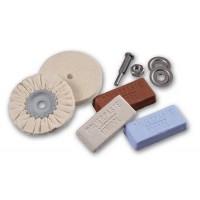 Uniwersalny zestaw 2 tarcz polerskich na trzpieniu Ø 6mm + 3 pasty polerskie OSBORN nr. 1203600000